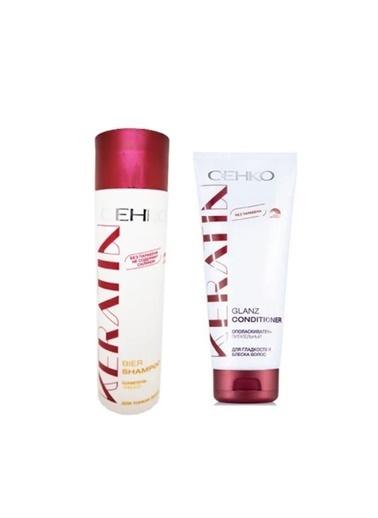 Cehko Cehko Keratin Buğday Şampuanı 250 Ml+Keratin Parlatıcı Saç Kremi 200 Ml Renksiz